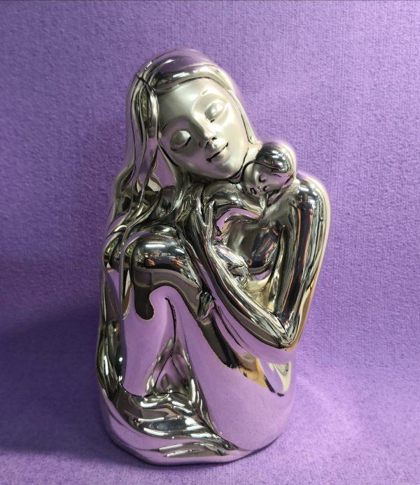 Día de la madre, regalo figura madre y bebé en plata