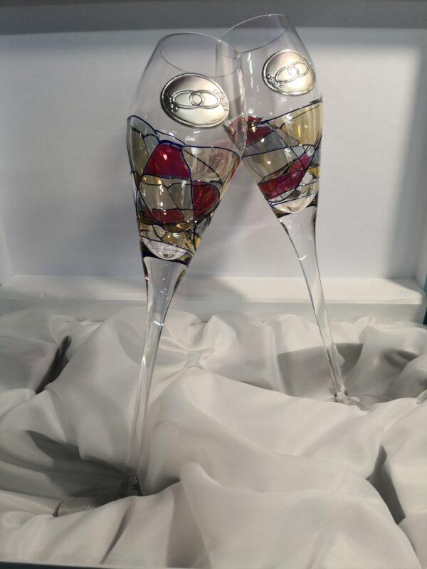regalo original boda dos copas con alianzas